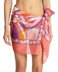 Emilio Pucci Geometric-patterned Pareo - Lyst