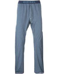 DIESEL | Rhombus Print Pyjama Trousers | Lyst