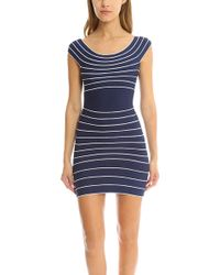 Hervé Léger | Marisol Stripe Dress | Lyst