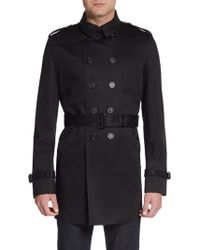 Burberry Prorsum Double-breasted Cotton Trenchcoat - Lyst