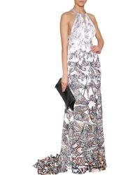 Matthew Williamson Silk Dragonfly Gown with Keyhole Cut Out - Lyst