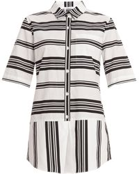10 Crosby Derek Lam Bold Stripe Shirt Dress - Lyst