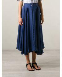 La Prestic Ouiston - Flared Midi Skirt - Lyst