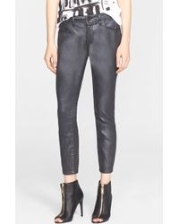 Burberry Brit | Coated Stretch Crop Skinny Jeans | Lyst