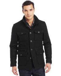 Kenneth Cole Reaction Military Coat - Lyst
