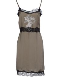 Twin-set Simona Barbieri Short Dress gray - Lyst