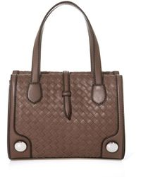 Bottega Veneta Sphere Intrecciato Leather Shoulder Bag - Lyst