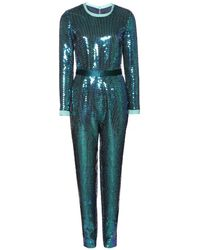 Marc By Marc Jacobs Stelli Sequinned Silk Jumpsuit - Lyst