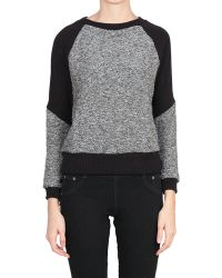 Enza Costa Wool and Cotton Sweatshirt - Lyst
