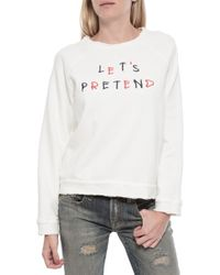 Sea Let's Pretend Sweatshirt white - Lyst