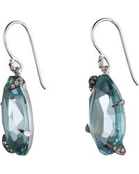 Alexis Bittar One Stone Quartz With Sapphire Pave Drop Earring - Lyst
