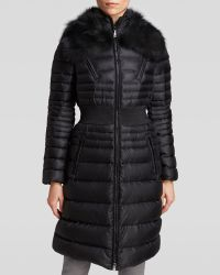 Dawn Levy Coat - Perla Cinch Waist with Fox Fur Trim - Lyst