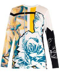Prabal Gurung Graphic and Rose-print T-shirt - Lyst