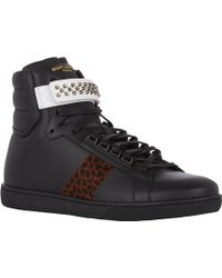 Saint Laurent Studded-strap Sl14h Sneakers - Lyst