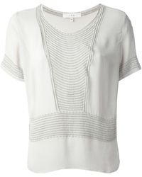 Iro Sheer Embroidered Top - Lyst