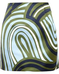 Acne Studios Kyte Wave Print Skirt - Lyst