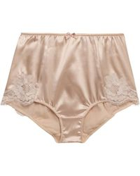 Dolce & Gabbana Satin and Lace Highwaisted Briefs - Lyst
