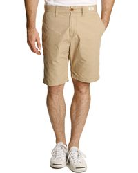 Tommy Hilfiger Beige Light Poplin Stretch Bermuda Shorts - Lyst