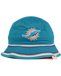 cbb019f0108 Lyst - Ktz Miami Dolphins Team Stripe Bucket Hat in Blue for Men