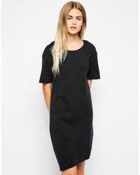 American Vintage Short Sleeve Round Neck Dress - Lyst