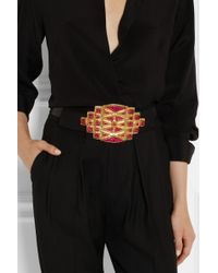 Vionnet Embellished Leather Waist Belt - Lyst