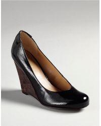 Nine West Smooch Leather Wedge Heels - Lyst