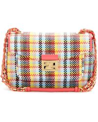 Fendi Be Baguette Woven Leather Shoulder Bag - Lyst