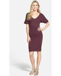 James Perse Crepe Jersey Dress - Lyst