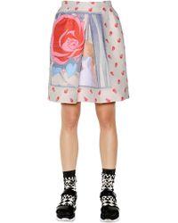Essentiel - Floral Techno Jacquard Skirt - Lyst