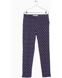 Mango Printed Baggy Trousers - Lyst
