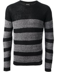 Diesel Striped Knitted Sweater - Lyst