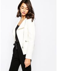 Ted Baker Biker Jacket With Zip Fold Front - Lyst