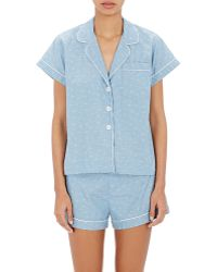 Steven Alan - Women's Paisley Jacquard Crop Pyjama Top - Lyst