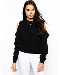 Cheap Monday Open Shoulder Sweatshirt - Lyst