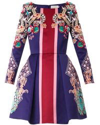 Mary Katrantzou Coppelia Pearl and Pendant Print Dress - Lyst