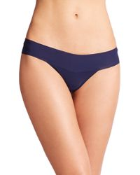 Hanky Panky Bare Eve Natural-Rise Thong blue - Lyst