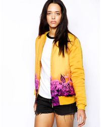 Insight Yellow Afterglow Bomber - Lyst
