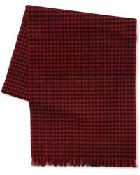 Saint Laurent Houndstooth Wool Scarf - Lyst