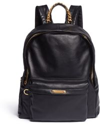 16fbe5cf3158 Sophie Hulme - Chain Handle Leather Backpack - Lyst