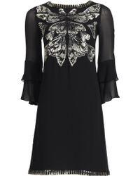 Matthew Williamson Wing Georgette Ruffle Sleeve Dress - Lyst