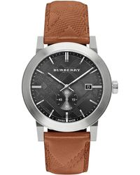 Burberry | Check Stamped Stainless Steel Watch | Lyst