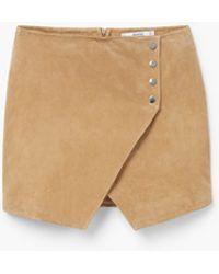 Mango | Suede Wrap Skirt | Lyst
