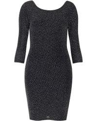 Topshop Bodycon Chevron Stripe Mini Dress - Lyst