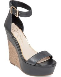 Jessica Simpson Arista Two-Piece Espadrille Platform Wedge Sandals - Lyst