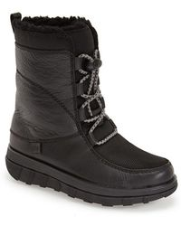 Fitflop | Sporty Mukluk Leather and Shearling Boots | Lyst