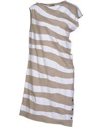Balenciaga Beige Short Dress - Lyst