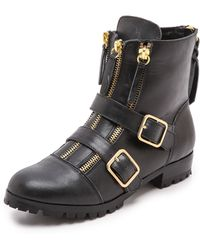 Twelfth Street by Cynthia Vincent Darby Buckle Booties  Black - Lyst