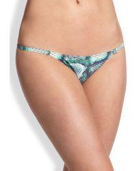 ViX Snakeskin-Print String Bikini Bottom multicolor - Lyst