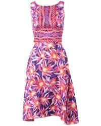 Peter Pilotto LT Floral-Print Silk Dress - Lyst