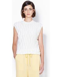 3.1 Phillip Lim Sleeveless Pullover With 3-Dimensional Wavy Stitch - Lyst